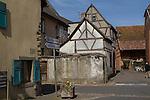 Eguisheim in Alsace region, eastern France,