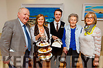 John and Nuala Ward (Killarney), Hayden Coffey (Royal Hotel, Killarney) with Mary Fitzgerald and Ann Sheehan (Tralee) enjoying the Tea Party, sponsored by the Killarney Royal Hotel, in the Palliative Care Unit at University Hospital Kerry on Monday.