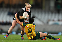 Kendra Cocksedge in action during the International Women's Rugby match between the New Zealand All Blacks and Australia Wallabies at Eden Park in Auckland, New Zealand on Saturday, 17 August 2019. Photo: Simon Watts / lintottphoto.co.nz