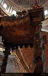 Bernini Baldachino detail of Canopy and Columns Baldacchino GianLorenzo Bernini Gilded Bronze Canopy Solomonic Columns Main Crossing St Peter's Basilica Rome
