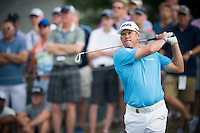 Lee Westwood nails his approach into the 12th during the opening round of the US PGA Championship at Valhalla (Photo: Anthony Powter) Picture: Anthony Powter / www.golffile.ie