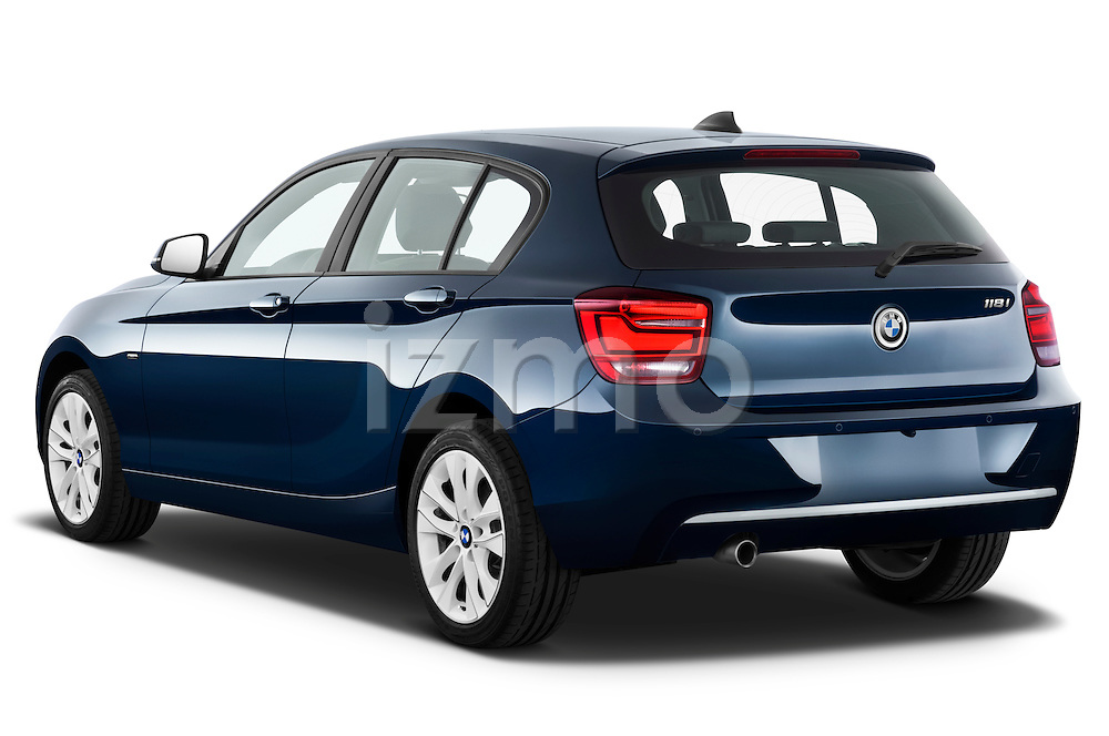 Rear three quarter view of a 2011 - 2014 BMW 118d 5 Door Hatchback Stock Photo