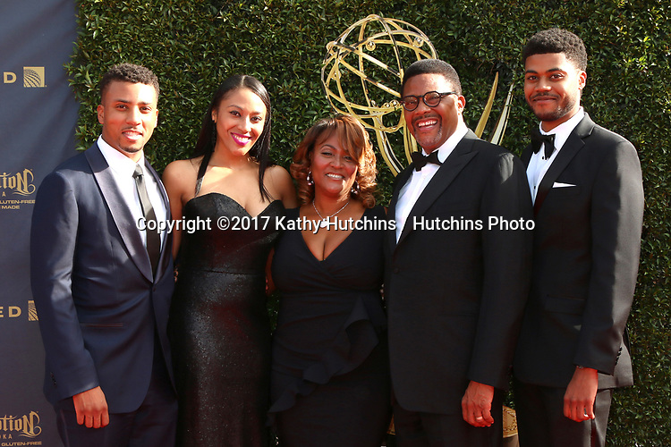 LOS ANGELES - APR 28:  Greg Mathis Family at the 2017 Creative Daytime Emmy Awards at the Pasadena Civic Auditorium on April 28, 2017 in Pasadena, CA