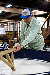 Photo shows Suehiro Sake Brewery in Aizu-wakamatsu City, Fukushima, Japan on 15 March 2013.  Photographer: Robert GilhoolyHead Brewer Juichi Sato measures the sake moromi mix that will be ready to press in a few days at the Suehiro Sake Brewery in Aizu-wakamatsu City, Fukushima, Japan on 15 March 2013.  Photographer: Robert Gilhooly