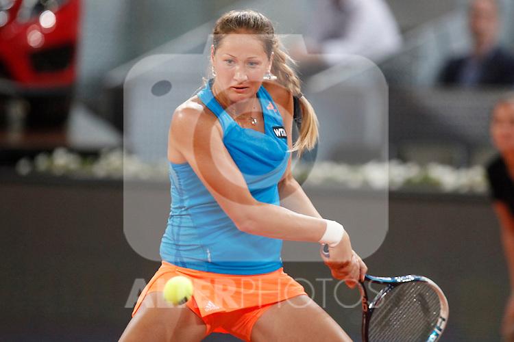 Russian tennis player Bojana Jovanovski during Madrid Open Tennis 2014 match. May 06, 2014. (ALTERPHOTOS/Victor Blanco)