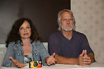 Deborah Van Valkenburgh & Michael Beck - The Warriors - 30 year reunion during Q & A at the Super Megashow & Comic Fest on August 30, 2009 in Secaucus, New Jersey (Photo by Sue Coflin/Max Photos)
