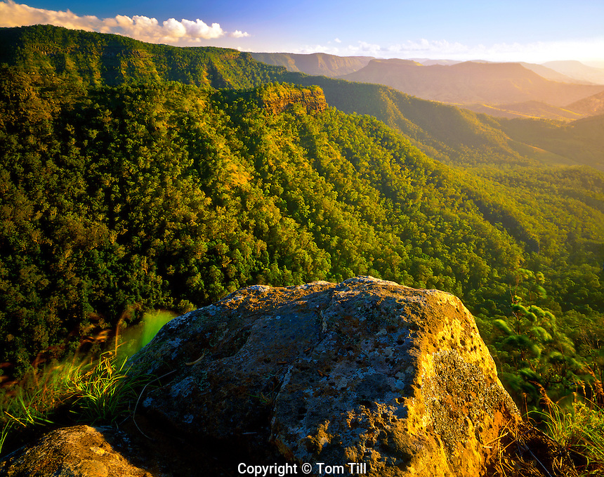Sunset View from Python Rock, near O'Reilly's Area, Lamington National Park, Queensland, Australia