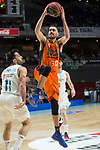 Real Madrid Facundo Campazzo and Valencia Basket Joan Sastre during Liga Endesa match between Real Madrid and Valencia Basket at Wizink Center in Madrid , Spain. March 25, 2018. (ALTERPHOTOS/Borja B.Hojas)