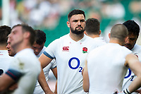 Elliott Stooke of England looks on after the match. Quilter Cup International match between England and the Barbarians on May 27, 2018 at Twickenham Stadium in London, England. Photo by: Patrick Khachfe / Onside Images
