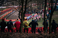 early fans out for the first race of the Championships<br /> <br /> Junior Race<br /> UCI CX Worlds 2018<br /> Valkenburg - The Netherlands