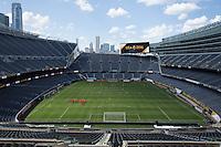 Chicago, IL - June 6, 2016: The USMNT train in preparation for their 2016 Copa Centenario game versus Costa Rica at Soldier Field.