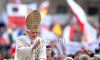 Pope Benedict XVI leads the beatification ceremony of Pope John Paul II in St. Peter's square in the Vatican.May 1, 2011,