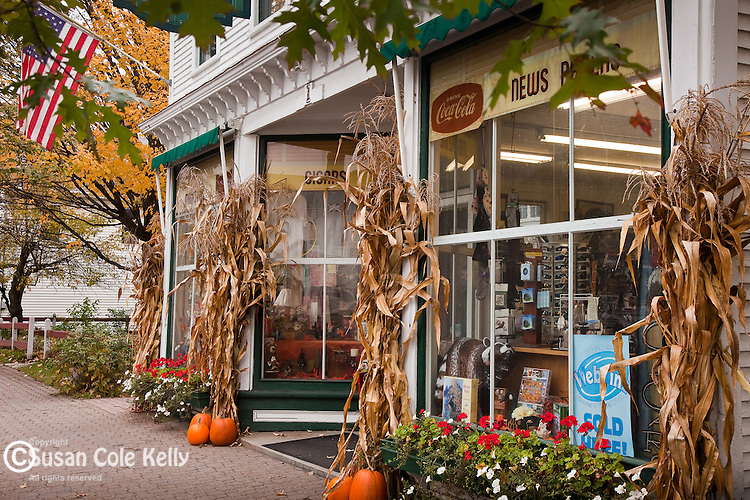 A country store in Stowe, VT, USA