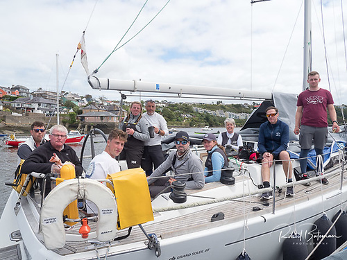 The crew of the Grand Soleil 40 crew Nieulargo from Kinsale Yacht Club