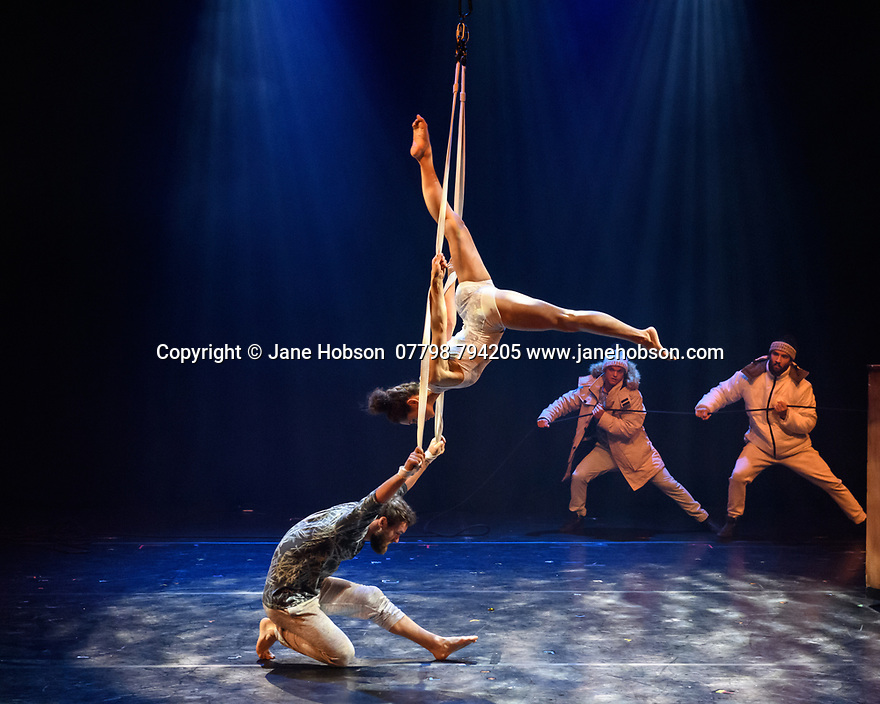 Assembly Festival Gala Launch at the Edinburgh Festival Fringe. Assembly presents a showcase of a number of productions and acts to launch their Fringe 2019, at the Assembly Hall, Edinburgh. Picture shows: Flip Fabrique - Blizzard.