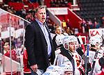 S&ouml;dert&auml;lje 2014-10-23 Ishockey Hockeyallsvenskan S&ouml;dert&auml;lje SK - Malm&ouml; Redhawks :  <br /> Malm&ouml; Redhawks tr&auml;nare headcoach Mats Lusth reagerar under matchen mellan S&ouml;dert&auml;lje SK och Malm&ouml; Redhawks <br /> (Foto: Kenta J&ouml;nsson) Nyckelord: Axa Sports Center Hockey Ishockey S&ouml;dert&auml;lje SK SSK Malm&ouml; Redhawks portr&auml;tt portrait