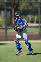 Los Angeles Dodgers catcher Marco Hernandez (96) during an Instructional League game against the Oakland Athletics at Camelback Ranch on October 4, 2018 in Glendale, Arizona. (Zachary Lucy/Four Seam Images)