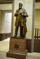 Statue of James Zachariah George that is part of the National Statuary Hall Collection in the United States Capitol in Washington, DC on Thursday, August 31, 2017.   The statue of Colonel George was given to the Collection by the State of Mississippi in 1931. The collection is comprised of 100 statues, two from each state.  Of those, twelve depict Confederate leaders.  The statues have become controversial and there have been calls for their removal from the US Capitol.<br /> Credit: Ron Sachs / CNP /MediaPunch