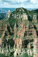 GRAND CANYON<br /> Sedimentary Rock Strata<br /> Redwall limestone strata is colored by the presence of iron oxide. National Park, AZ