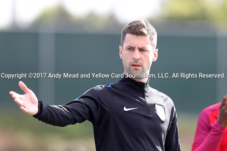 11 January 2017: Assistant coach Pat Noonan. The United States Men's National Team held their first training session under new head coach Bruce Arena on The Murphy Family Field at the StubHub Center in Carson, California.