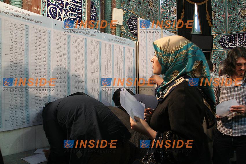 Vote pour elire le president  <br /> Teheran 15/6/2013 <br /> Elezioni Presidenziali <br /> foto Imago / Panoramic / Insidefoto