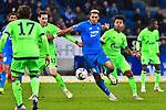 01.12.2018, wirsol Rhein-Neckar-Arena, Sinsheim, GER, 1 FBL, TSG 1899 Hoffenheim vs FC Schalke 04, <br /> <br /> DFL REGULATIONS PROHIBIT ANY USE OF PHOTOGRAPHS AS IMAGE SEQUENCES AND/OR QUASI-VIDEO.<br /> <br /> im Bild: Joelinton (TSG Hoffenheim #34) gegen Sebastian Rudy (FC Schalke 04 #13) und Weston McKennie (FC Schalke 04 #2)<br /> <br /> Foto &copy; nordphoto / Fabisch