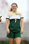 30 August 2015: William & Mary's Elysse Branton. The Duke University Blue Devils hosted the William & Mary University Tribe at Koskinen Stadium in Durham, NC in a 2015 NCAA Division I Women's Soccer game. Duke won the game 2-0.
