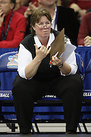 16 December 2006: Stanford Cardinal associate head coach Denise Corlett during Stanford's 30-27, 26-30, 28-30, 27-30 loss against the Nebraska Huskers in the 2006 NCAA Division I Women's Volleyball Final Four Championship match at the Qwest Center in Omaha, NE.
