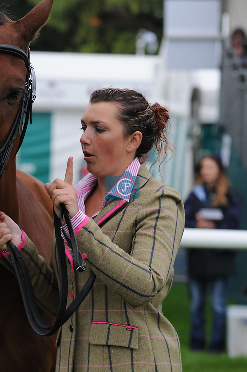 Sarah Stretton and Skip On at the 1st Veterinary Inspection at the 2012 Land Rover Burghley Horse Trials in Stamford, Lincolnshire, England, UK.