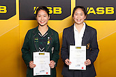 Girls Table Tennis finalists Jennifer Tseng and Dawn Ee. ASB College Sport Young Sportsperson of the Year Awards held at Eden Park, Auckland, on November 24th 2011.
