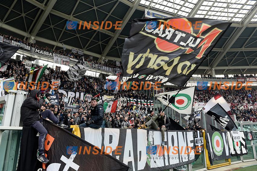 Tifosi Juventus Supporters <br /> Torino 11-12-2016 Stadio Olimpico Grande Torino <br /> Fotball Calcio Serie A 2016/2017 Torino - Juventus  <br /> Foto Massimo Pinca Insidefoto