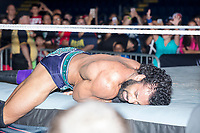 WWE Champion Jinder Mahal reacts after losing his match against Randy Orton at a WWE Live Summerslam Heatwave Tour event at the MassMutual Center in Springfield, Massachusetts, USA, on Mon., Aug. 14, 2017.
