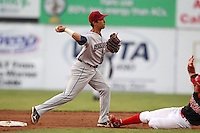 Mahoning Valley Scrappers shortstop Kevin Fontanez (17) during a game vs. the Batavia Muckdogs at Dwyer Stadium in Batavia, New York August 2, 2010.   Batavia defeated Mahoning Valley 6-3 in 10 innings.  Photo By Mike Janes/Four Seam Images