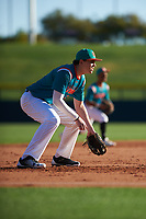 Samuel Mickels (13) of South Fork High School in Stuart, Florida during the Baseball Factory All-America Pre-Season Tournament, powered by Under Armour, on January 13, 2018 at Sloan Park Complex in Mesa, Arizona.  (Zachary Lucy/Four Seam Images)