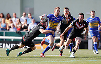 Richie Myler makes a break for Leeds during London Broncos vs Leeds Rhinos, Betfred Super League Rugby League at Trailfinders Sports Club on 1st September 2019