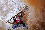 CHARLOTTE, NC - AUGUST 24: 3-Time Olympian Scott Shipley of the USA paddles down the rapids during the official training session for the US Slalom Kayaking Championships on August 24, 2006 in Charlotte, North Carolina at the US National Whitewater Center.   (Photo by Donald Miralle/Getty Images) *** Local Caption *** Scott Shipley