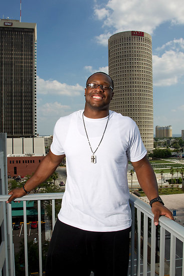 JUNE 8, 2010; TAMPA, FLORIDA: Tampa Bay Buccaneers 2010 first-round draft pick Gerald McCoy. Photo by Matt May