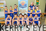 O Brennan NS Front L-R Adam O Keeffe, Brian Cassidy, Ivan Murphy, Sean Vice, Darragh Moriarty, and Ryan McQue. Back L-R Daniel Bowler, Darragh Cassidy, Kian Godley, Dillon Barry, Sean Horan, Brian Godley and Coach Mike Sweeney at the CBS Primary Hoops Tournament at John Mitchels Sports Hall on Friday