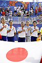 Japan team group, (L-R) Shinji Makino, Hirofumi Oda, Takashi Arakaki, Shingo Terukina, Takeshi Kawaharazuka (JPN),SEPTEMBER 2, 2011 - Beach Soccer :FIFA Beach Soccer World Cup Ravenna/Italy 2011, Group D match between Japan 2-3 Mexico at Stadio del Mare in Marina di Ravenna, Ravenna, Italy. (Photo by Wataru Kobayakawa/AFLO)