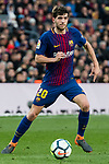 Sergi Roberto Carnicer of FC Barcelona in action during the La Liga 2017-18 match between FC Barcelona and Getafe FC at Camp Nou on 11 February 2018 in Barcelona, Spain. Photo by Vicens Gimenez / Power Sport Images