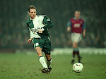 Rob Jones of Liverpool - Barclays Premier League - Aston Villa v Liverpool - Villa Park Stadium - Birmingham - England - 31st  January 1996 - Picture Simon Bellis/Sportimage