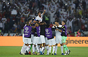 February 1st 2019; Adu Dhabi, United Arab Emirates; Asian Cup football final, Japan versus Qatar; Players of Qatar celebrate scoring during the final match