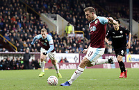 Burnley's Chris Wood scores the winning goal from the penalty spot<br /> <br /> Photographer Rich Linley/CameraSport<br /> <br /> Emirates FA Cup Third Round - Burnley v Barnsley - Saturday 5th January 2019 - Turf Moor - Burnley<br />  <br /> World Copyright &copy; 2019 CameraSport. All rights reserved. 43 Linden Ave. Countesthorpe. Leicester. England. LE8 5PG - Tel: +44 (0) 116 277 4147 - admin@camerasport.com - www.camerasport.com