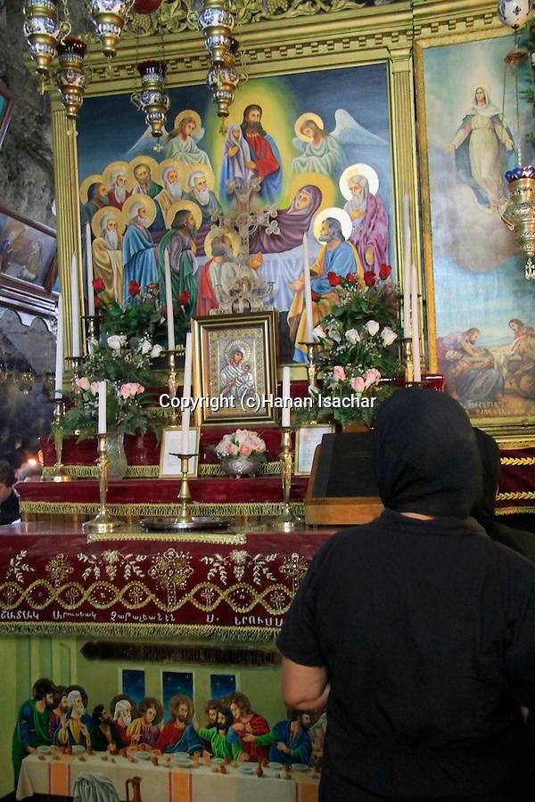 Israel, Jerusalem, Greek Orthodox Feast of the Assumption ceremony at Mary's Tomb