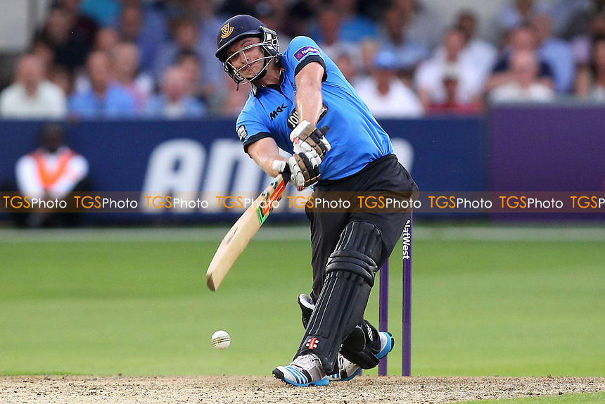 Luke Wright in batting action for Sussex on his way to a a score of 153 runs - Essex Eagles vs Sussex Sharks - NatWest T20 Blast Cricket at the Essex County Ground, Chelmsford, Essex - 25/07/14 - MANDATORY CREDIT: Gavin Ellis/TGSPHOTO - Self billing applies where appropriate - contact@tgsphoto.co.uk - NO UNPAID USE