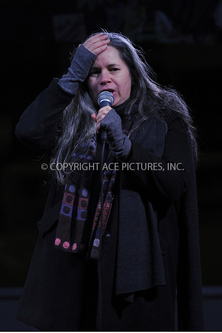 www.acepixs.com<br /> January 19, 2017  New York City<br /> <br /> Natalie Merchant during the We Stand United Rally outside Trump International Hotel &amp; Tower on January 19, 2017 in New York City.<br /> <br /> Credit: Kristin Callahan/ACE Pictures<br /> <br /> Tel: 646 769 0430<br /> Email: info@acepixs.com