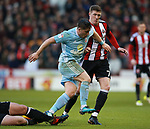 Lynden Gooch of Sunderland and John Lundstram of Sheffield Utd  during the Championship match at Bramall Lane Stadium, Sheffield. Picture date 26th December 2017. Picture credit should read: Simon Bellis/Sportimage