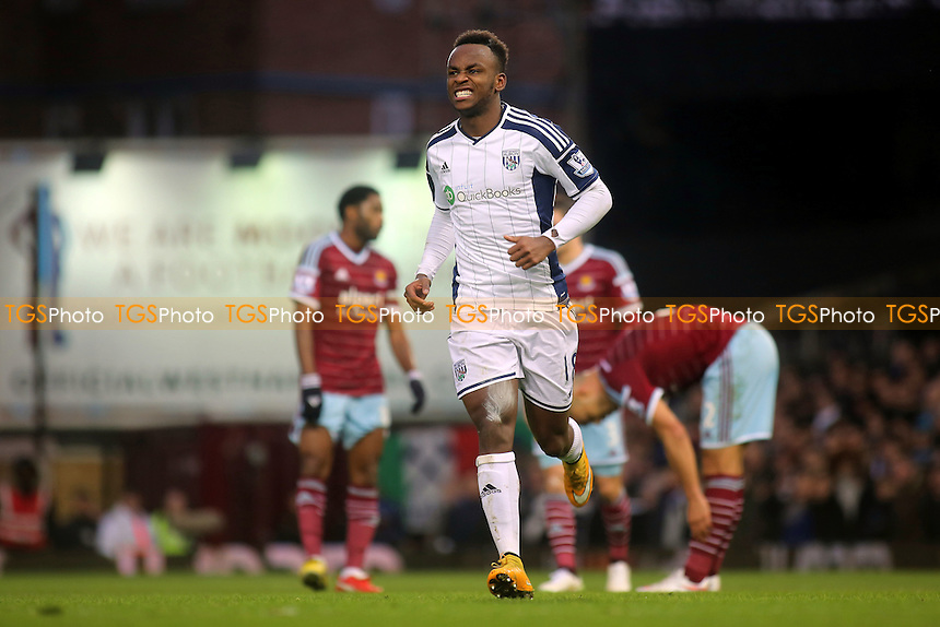 Saido Berahino celebrates scoring West Brom's first goal - West Ham United vs West Bromwich Albion - Barclays Premier League Football at the Boleyn Ground, Upton Park, London - 01/01/15 - MANDATORY CREDIT: Paul Dennis/TGSPHOTO - Self billing applies where appropriate - contact@tgsphoto.co.uk - NO UNPAID USE