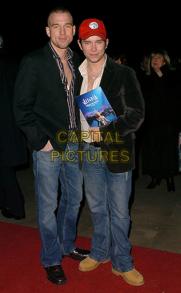 STEPHEN GATELY & PARTNER.Cirque Du Soleil: Alegria - press night at the Royal Albert Hall, London, UK..January 5th, 2006.Ref: CAN.full length jeans denim black jacket red baseball cap.www.capitalpictures.com.sales@capitalpictures.com.©Capital Pictures