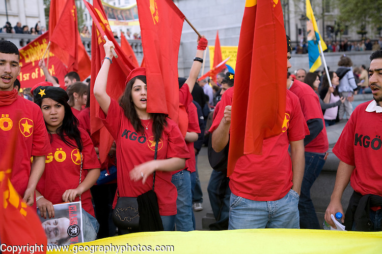 May Day march and rally at Trafalgar Square, May 1st, 2010 Communist Youth Organisation of MLKP - Marxist Leninist Communist Party of Turkey and North Kurdistan